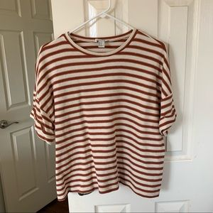 Women's oversized striped shirt